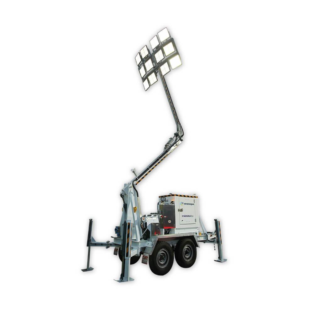 ML12C Midnitelite Mobile Lighting Tower - Eneraque Mobile LED Lighting Towers
