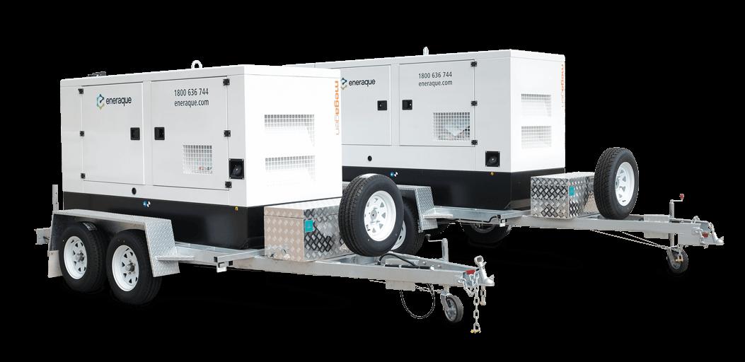 Mobile Diesel Generators - Eneraque Trailer Mounted Diesel Generators